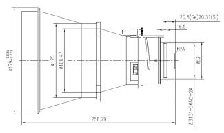 Motorized Focus LWIR Lens 210mm f/1.3