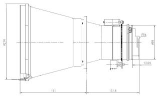 Uncooled Camera Motorized Focus LWIR Lens 260mm f/1.3