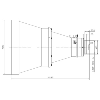 Motorized Focus LWIR Lens 300mm f/1.3