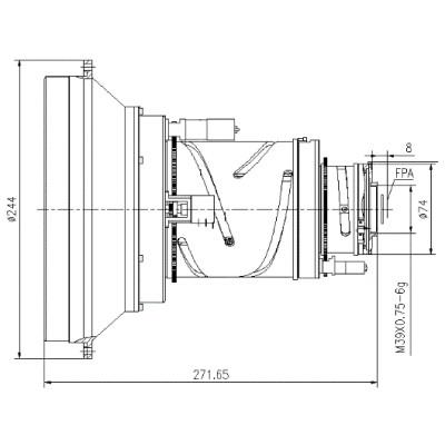 IR zoom lens 29-261mm f/0.85-1.3