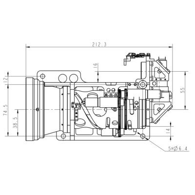 Multiple fov ir lens 50-330mm f/4.0