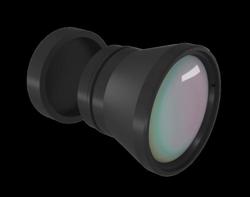 Fixed LWIR Lens 25mm f/1.0 DLC/HC coating for UAV
