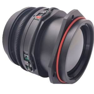 Motorized Focus LWIR Lens 50mm f/1.0 with Front Flange