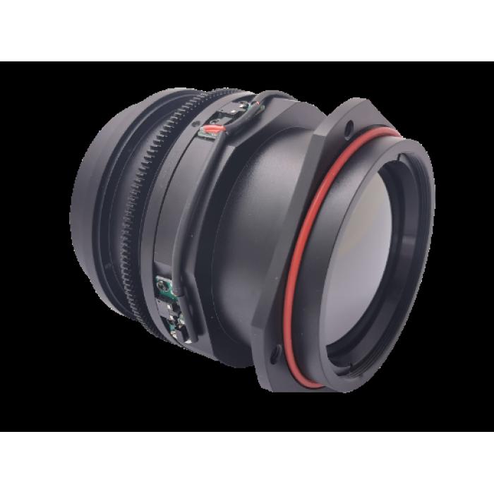 Objectif LWIR à mise au point motorisée 50 mm f/1.0 avec bride avant