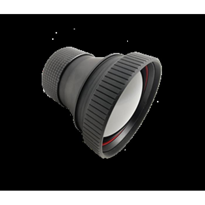 Атермализированный объектив LWIR с ручной фокусировкой 75 мм f / 1.0 с DLC-покрытием