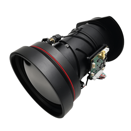 Motorized continuous zoom infrared lens 25-100mm f/0.9-1.1