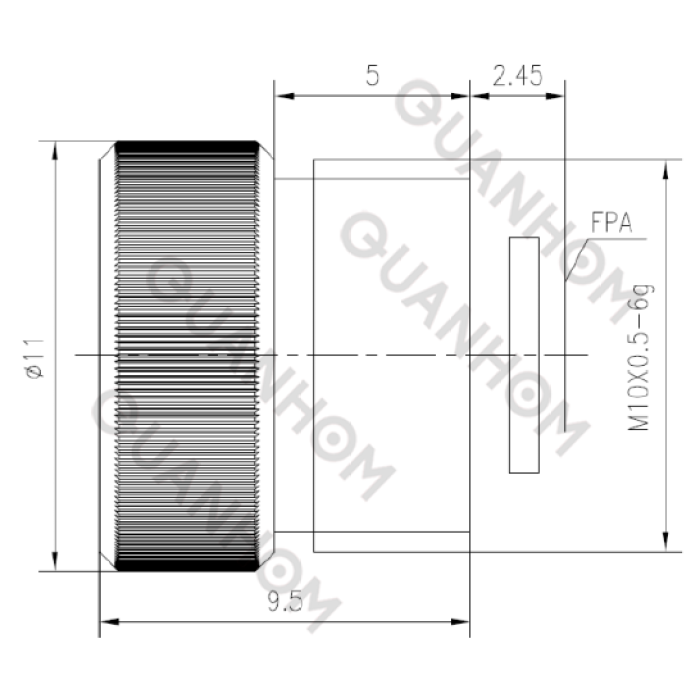 Lwir zoom lens 3mm f/1.0丨mini lens