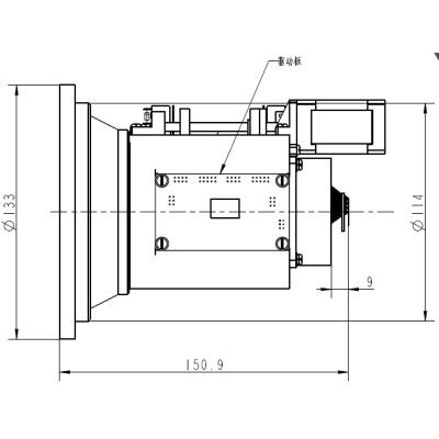 Dual-fov ir lens 25/100mm f0.85/1.0
