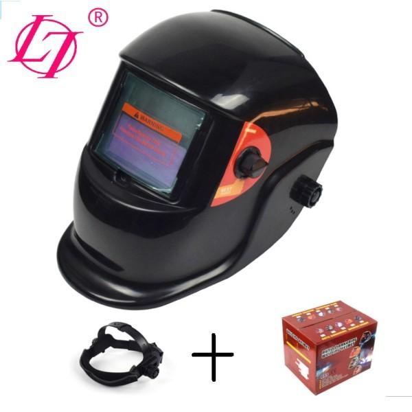 True Color Solar Powered Auto Darkening Welding Helmet, Wide Shade 4/9-13 for TIG MIG ARC Weld Hood Helmet