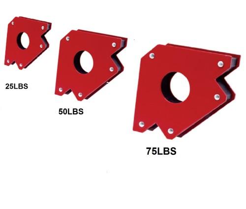 Magnetic Welding Clamp Corner Holder 25/50/75LB Angle Support Fix Arrow Magnet