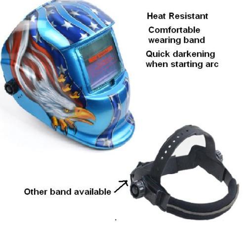 Hot Selling Eagle design Auto Darkening Welding Helmet Solar powered auto darkening welding hood