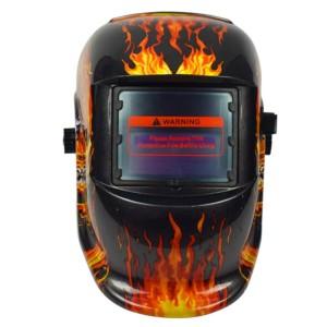 Hot Selling Fire design Auto Darkening Welding Helmet Solar powered auto darkening welding hood