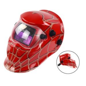 Hot Selling Spiderman design Auto Darkening Welding Helmet Solar powered auto darkening welding hood