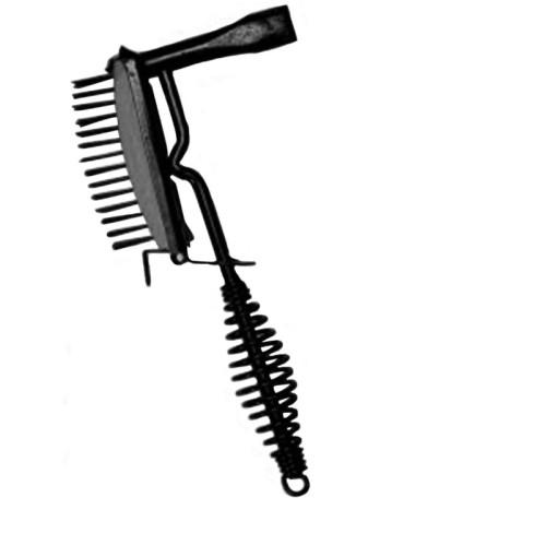 Spring handled welder chipping hammer, welding slag cleaning chipping hammer with brush