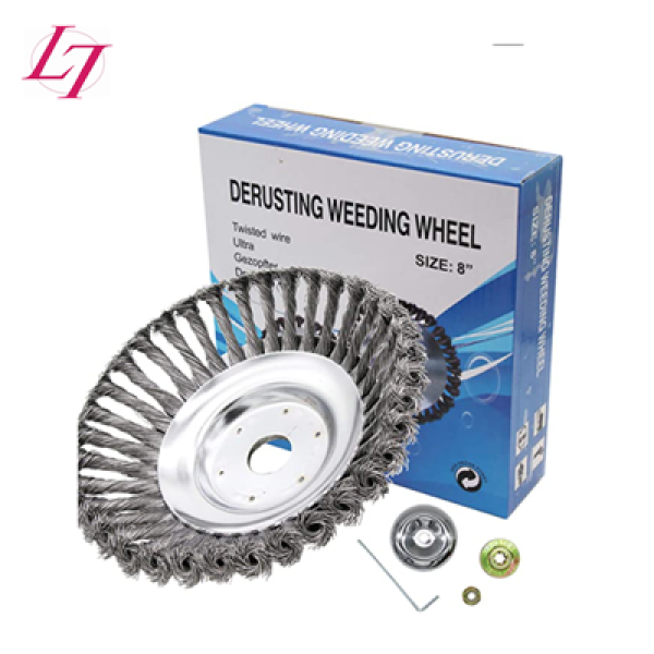 Derusting  weeding wheel Twisted Steel Wire Brush Grass