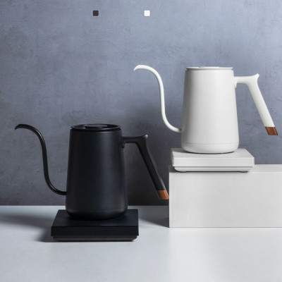 800ml Stainless Steel Electric Variable Temperature Setting Gooseneck Coffee Kettle for Pour Over Coffee Tea