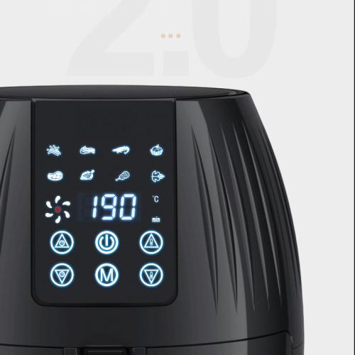 Multi-functional 5.5l 1350w air fryer healthy oil-free cooking air fryer with timing