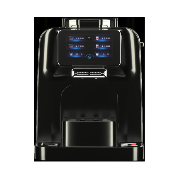 آلة صنع القهوة الأوتوماتيكية الفائقة مع آلة صنع قهوة الإسبريسو التجارية بالثلاجة المدمجة