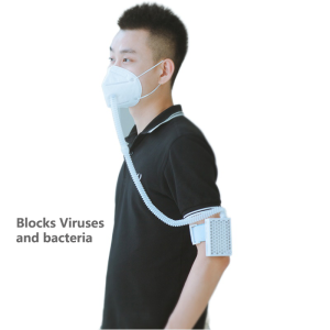 PM2.5 electric anti-fog wearable active carbon masking smart air purifier