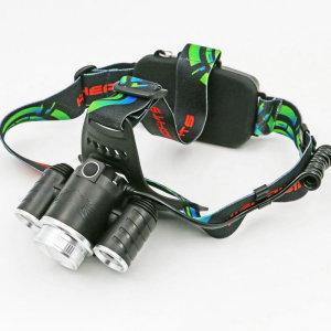 Faros LED multifuncionales, iluminación de larga distancia, utilizados para montañismo, pesca nocturna y exploración salvaje