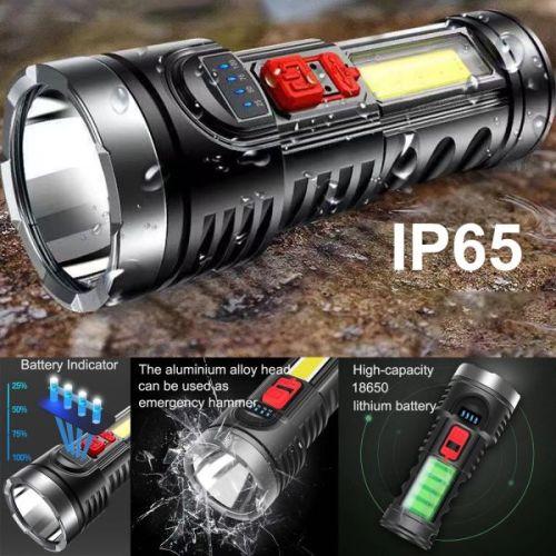 High power plastic LED flashlight for outdoor adventure