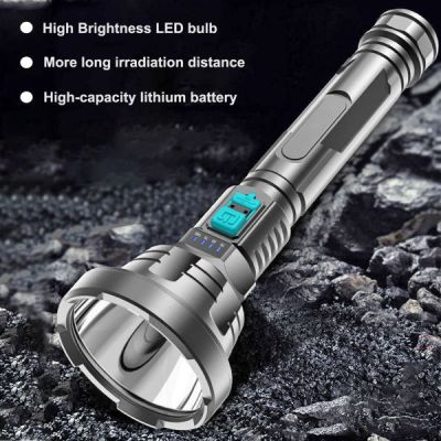Super-brightness plastic LED flashlight for outdoor usage