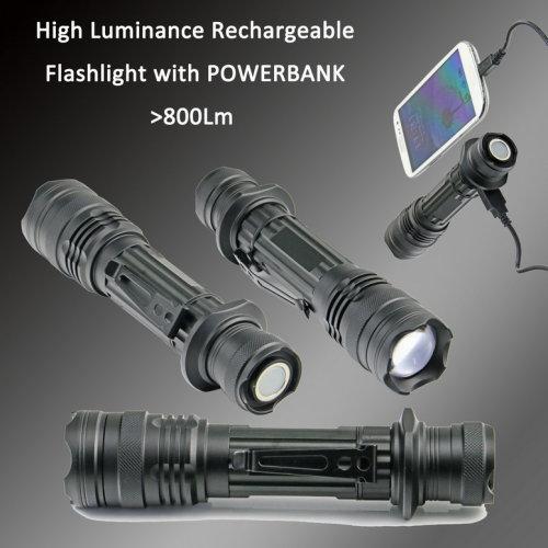 High power and super-brightness aluminium alloy LED flashlight for mountain climbing & Camping