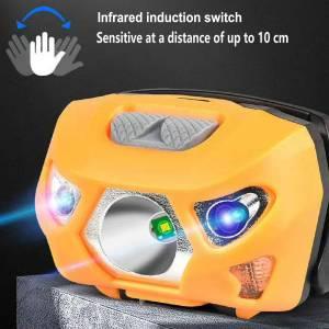 Smart LED Sense Head Lamp for Mountaineering,Night fishing & Camping