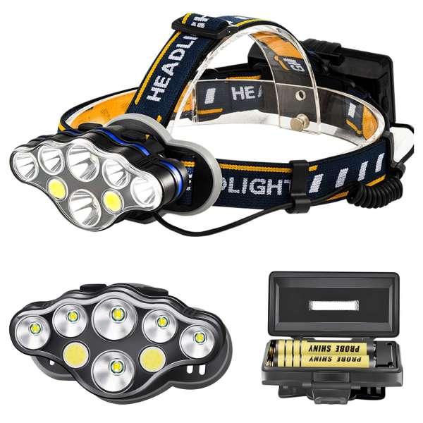 Linterna frontal LED de alta potencia, iluminación de larga distancia, para montañismo, pesca nocturna y exploración salvaje