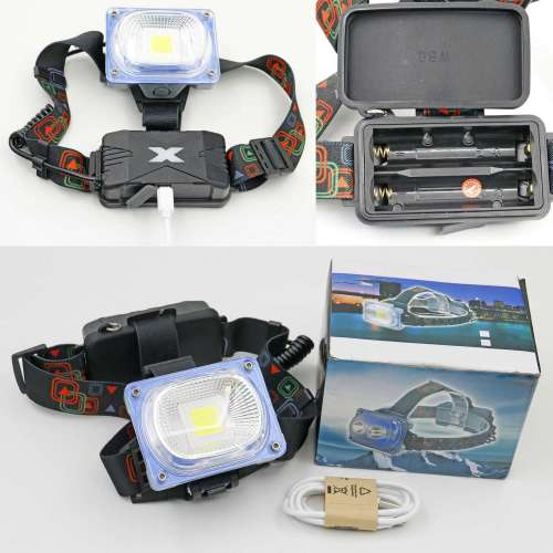 High-power LED headlights, long-distance lighting, used for mountain climbing, night fishing and wild exploration