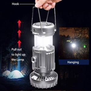 Multifunctional pull-out LED camping light for mountain climbing, night fishing and camping
