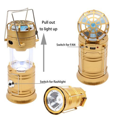 Multifunction Pull out Solar camping lantern for Mountaineering,Night fishing & Camping