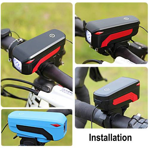 High Power & High brightness LED bicycle lights with loudspeaker for a wide range of uses