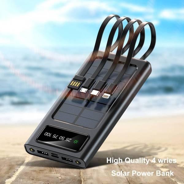 Cargador solar de alta calidad y alta potencia, el banco de energía solar brinda más comodidad a su vida