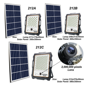 High Power & High brightness Solar Floodlights With Camera for a wide range of uses