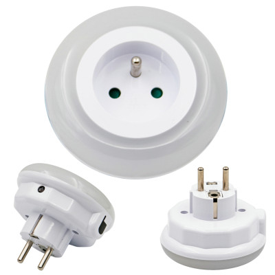 High quality & colorful LED night lamp with AC outlet / socket for a wide range of usage