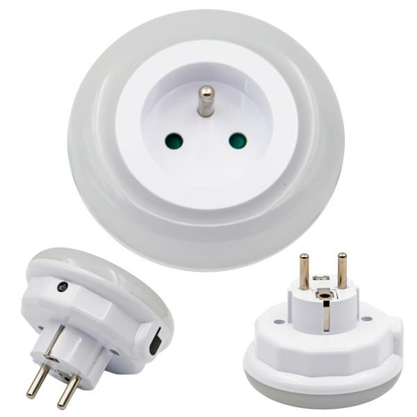 Lámpara de noche LED colorida y de alta calidad con tomacorriente de CA para una amplia gama de usos