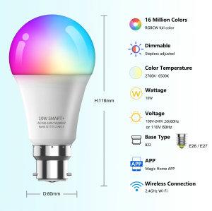 RGB LED Bulb manufacturer,Smart design,WIFI intelligent control & Full colors RGB LED Bulb make your life more funny