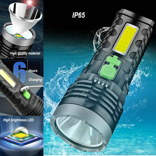 High quality,solar powered,smart plastic LED flashlight is a good assistant in your life.
