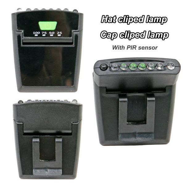 Lámpara con clip Smart Hat / Cap, con sensor, mano moviendo la mano para cambiar, es adecuada para todo tipo de actividades al aire libre