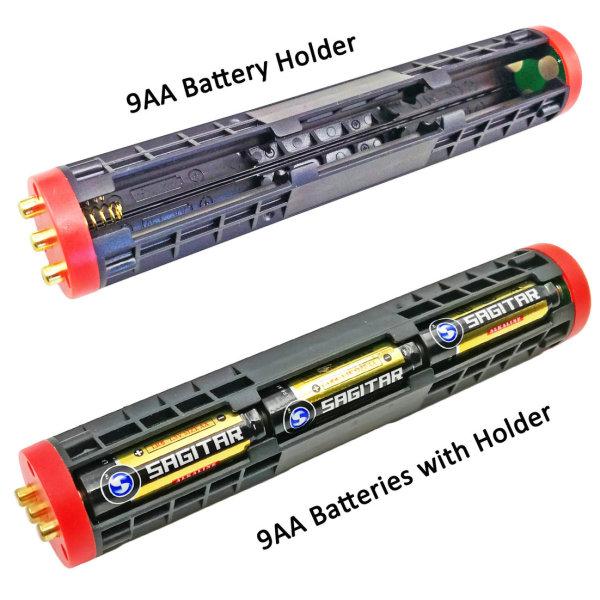 Soporte de batería seca 9AA de alta potencia y alta calidad, utilizado como accesorio para las linternas de alta potencia