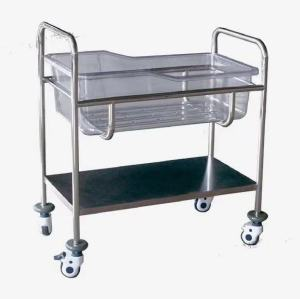 Stainless Steel Hospital Infant Bed