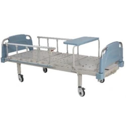 Manual Hospital Bed with Overbed Table