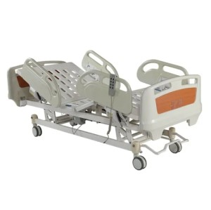 PE Material Central Brake Five Function Electric Hospital Bed