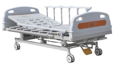 Manual Hospital Bed with Central Brake
