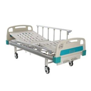 Ce Marked Two Cracks Manual Hospital Bed with Gurad Rails