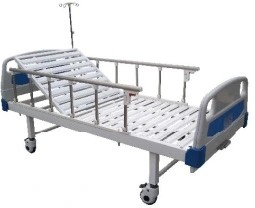 Powder Coated Manual Hospital Bed with One Crank