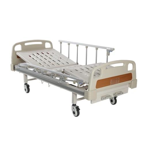 Moveable 2 Cranks Manual Adjustable Hospital Medical Bed