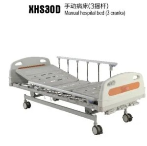 Manual Hospital Bed with Two Cranks with CE FDA ISO Certificates