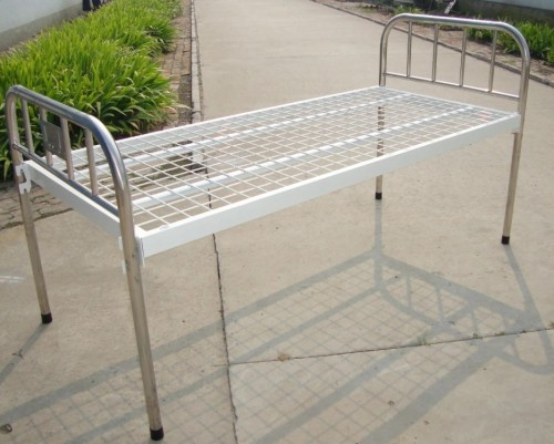 Stainless Steel One Crank Manual Hospital Bed